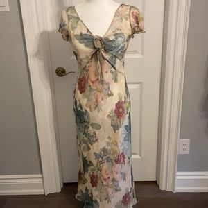 Planet 💯% Silk Floral Long Dress. Size small (6)